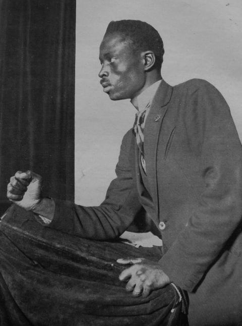 Lamine Senghor au congrès de la Ligue contre l'impérialisme et l'oppression coloniale, Bruxelles, février 1927.